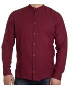 51211V-4 бордо(дл. рукав) Рубашка мужская 2XL-5XL по 4