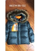 8837 тёмно-серый Куртка мальчик  98-122