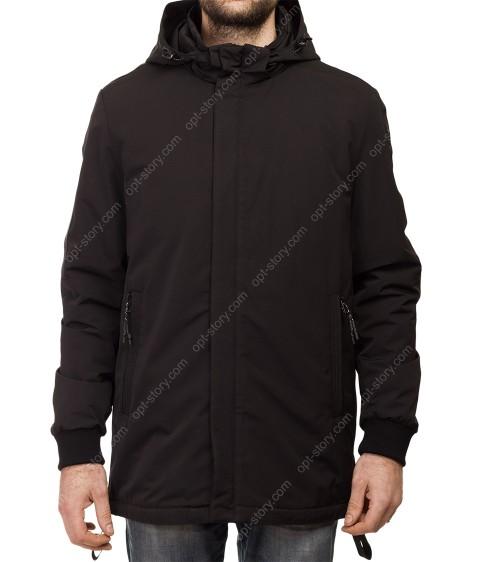 Т-277 чёрн Куртка мужская M-XXL по 5