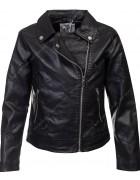 FA606 чёрная Куртка девочка кожзам 4-14 по 6