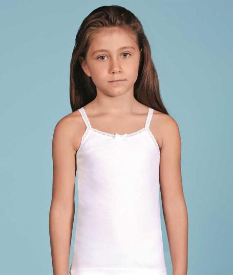 Майка девочка белая размер 1 по 3 шт арт.2515