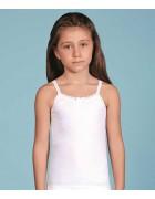 Майка девочка белая размер 4 по 3 шт арт 2515