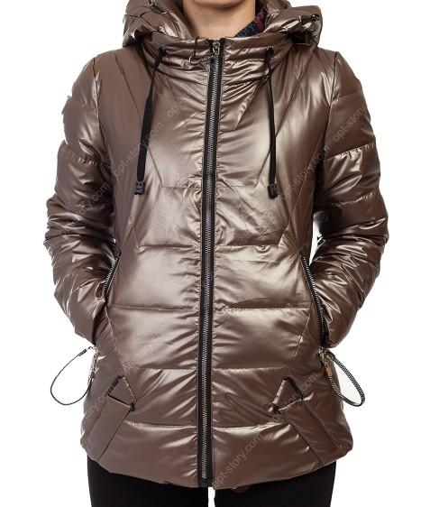8001 коричн Куртка женская S-2XL по 5
