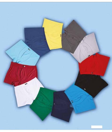 4488 Трусы боксеры мужские голубые размер S по 3 штуки