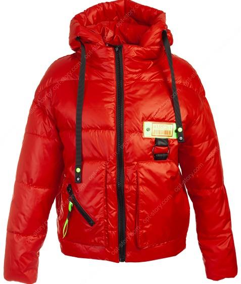 51925 красный Куртка женс. M-2XL по 4