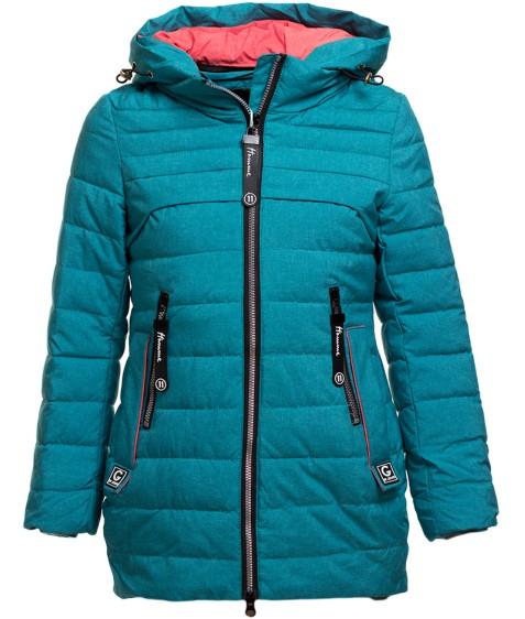 BM712 бирюз.Куртка девочка 128-152 по 5 (128)