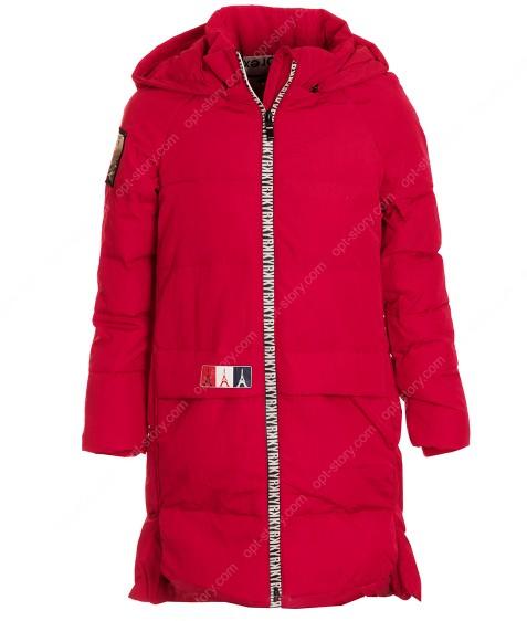 6817 красн.Куртка девочка 120-160 по 5