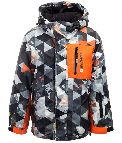 HB2035 оранж. Куртка мальчик 2-8 по 4