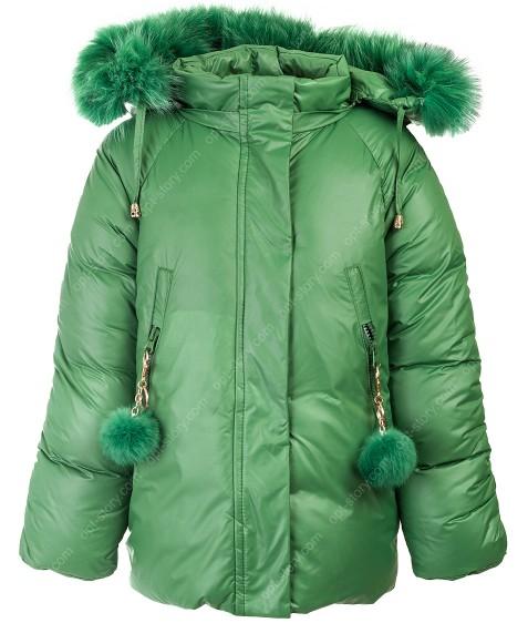 HL-612 зел. Куртка девочка  92-116 по 5