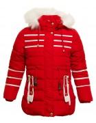 Z-601 красный Куртка девочка 122-146 по 5 шт