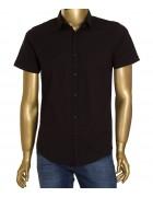 1313V-2 черн.(кор. рукав) Рубашка  мужская S-XL по 4