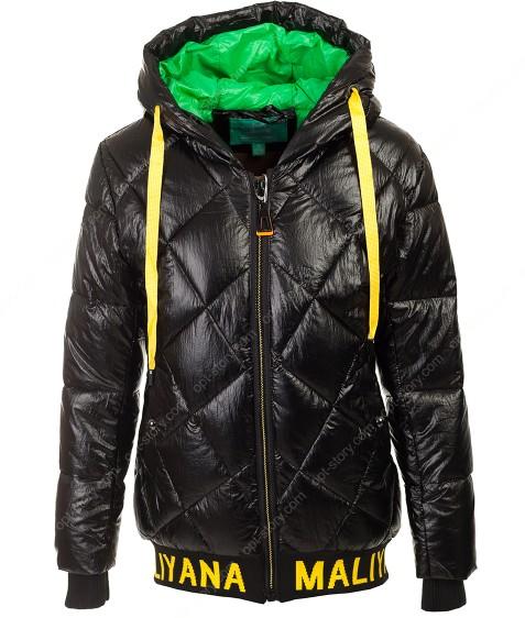 236 черн Куртка девочка 134-158 по 5
