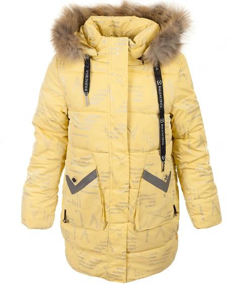 2170 желт. Куртка девочка 134-164 по 5