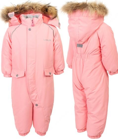 H16-02 розовый Комбенизон термо девочка 74-98 по 5