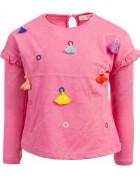 Реглан для девочки розовый с бубонами 0 - 4 лет по 5  штук 70166