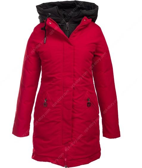 1901 красн. Куртка женская(еврозима) M-3XL по 5