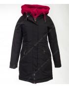 1901 черн. Куртка женская(еврозима) M-3XL по 5