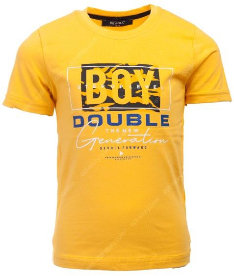 5083 желтый DEV Футболка мальчик 92-110 по 4