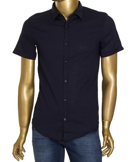 1311V-3 т.син(кор. рукав) Рубашка мужская S-XL по 4