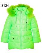 8124 салат Куртка девочка 104-128 по 5 шт