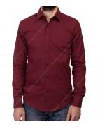 1313 bordo Рубашка мужская дл.рукав S-XL по 4