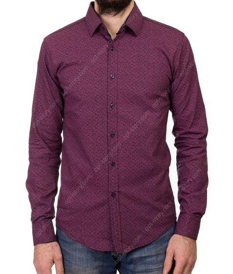 1343 V-17 Рубашка мужская дл.рукав S-XL по 4