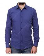 1343 V-18 Рубашка мужская дл.рукав S-XL по 4