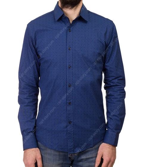 1343 V-34 Рубашка мужская дл.рукав S-XL по 4