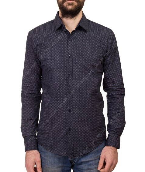 1343 V-35 Рубашка мужская дл.рукав S-XL по 4