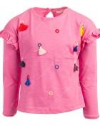 Реглан для девочки малиновый с бубонами 4-9 лет по 5  штук 70165