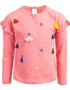 Реглан для девочки розовый с бубонами 4-9 лет по 5  штук 70165