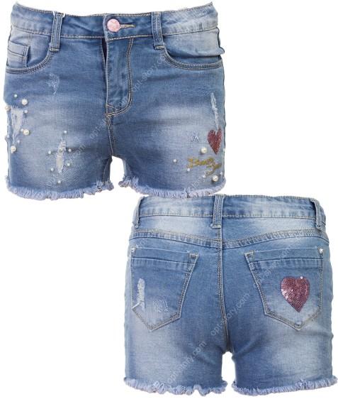 1071 Шорты джинс девочка 4-12 по 5