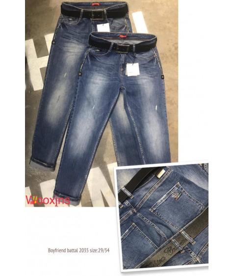 2035 blue brown fashion Джинсы женские 29-34 по 6