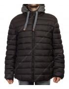 1267 черн. Куртка муж.тепл р.50-58 по 5