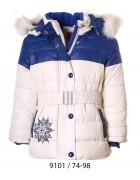 9101 белый Куртка девочка 74-98 по 5шт
