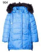 904 синий Куртка девочка 122-146 по 5шт