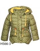 H 566-3 зеленый Куртка девочка 86-110 по5шт