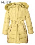 HL 1631 зеленый Куртка девочка 140-165 по 5шт