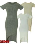 25002 AMBITION Платье женское (Серый.+Белый.) (Серый.+ Свет. серый.)  M/L XL/2XL  по 6шт