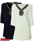 25020  AMBITION Платье  женское (Тем. син.+Бел.) M/L XL/2XL  по 6шт