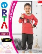 Пижама для девочки 1- 4 года по 4 шт. арт. 7002