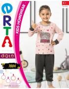 Пижама для девочки 1- 4 года по 4 шт. арт. 7004