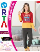 Пижама для девочки 5 - 12  лет по 4 шт. арт. 3202