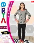 Пижама для девочки 5 - 12  лет по 4 шт. арт. 3218