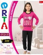 Пижама для девочки 5 - 12  лет по 4 шт. арт. 3230