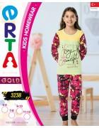 Пижама для девочки 5 - 12  лет по 4 шт. арт. 3238