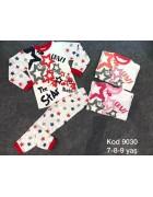 Пижама для девочки коралловая 7-9 года по 3 шт. арт.9030