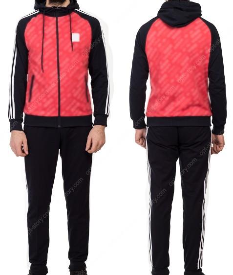 19001 красн Спорт костюм мужской M-XXL по 5