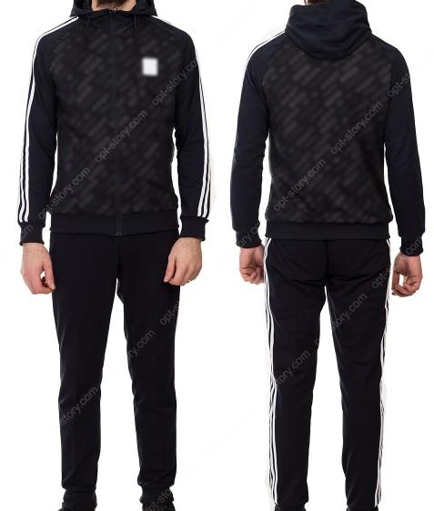 19001 черн Спорт костюм мужской M-XXL по 5