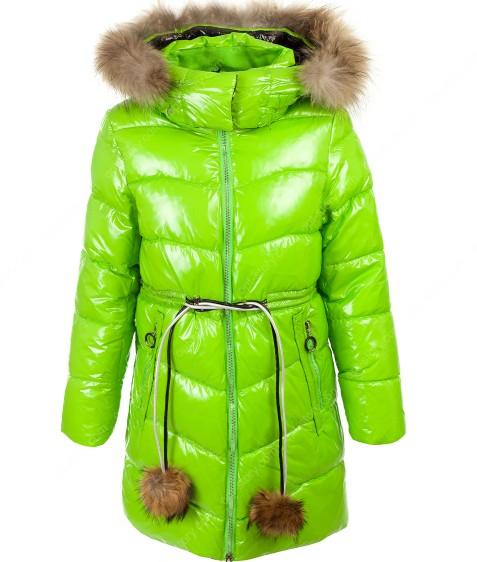 92039#5 зеленый Куртка дев 134-170 по 6